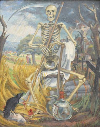 Serge-Henri MOREAU (1892-1963)  Le bivouac,1934...