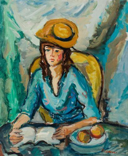 Pierre CORNU (1895-1996)  Jeune fille au...