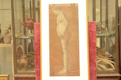 Armand PAULIS (1884-1979)  Femme nue de profil,...