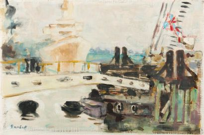 Alexandre Sacha GARBELL (1903-1970)  Bateaux...