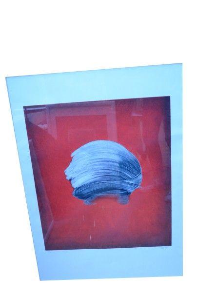 ECOLE CONTEMPORAINE  Trois lithographies...