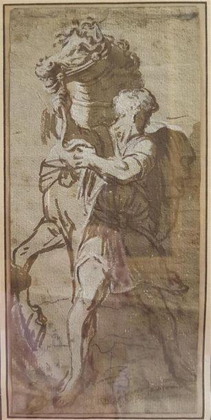 Ecole de Vérone XVIIIème siècle Ecuyer et...