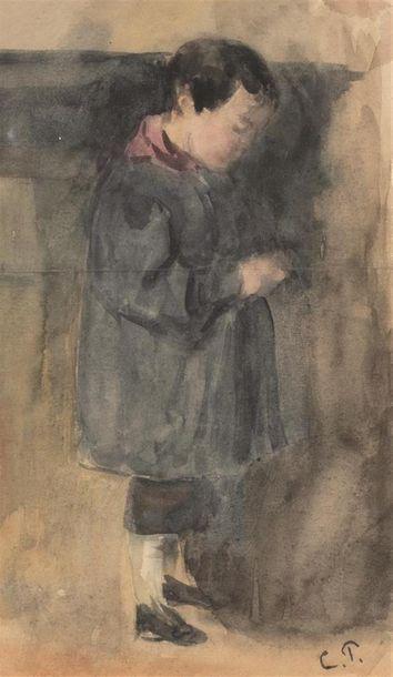 Camille PISSARRO (1830-1903) Garçon debout...