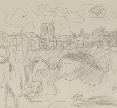 Pierre BONNARD (1867-1947)Le pont d'AlbiDessin...