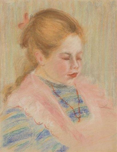 Pierre Auguste RENOIR (1841-1919)Fillette...