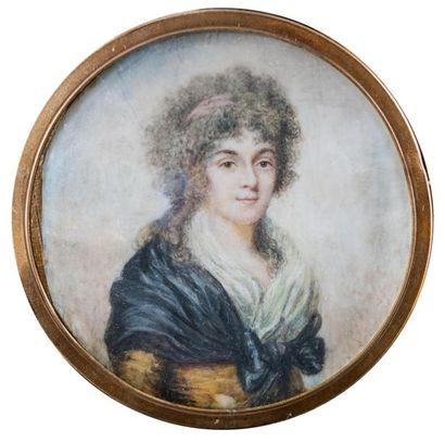 Ecole française fin XVIIIème siècle Portrait...