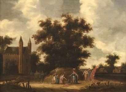 Ecole FLAMANDE du XVIIème siècle L'accueil...