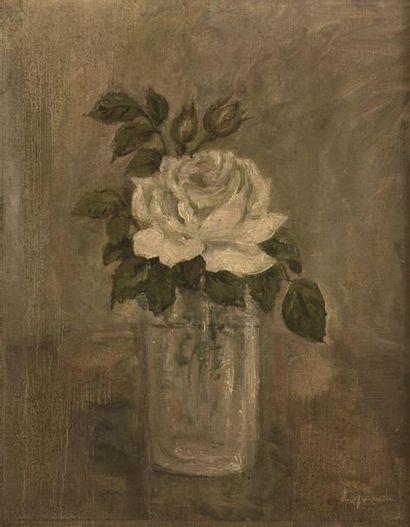 Pierre LAPRADE (1875 - 1931) Bouquet de roses...