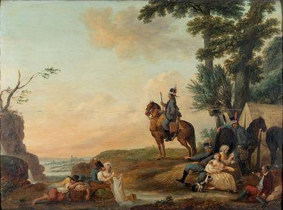 Louis WATTEAU de LlLLE (1731-1798)  Un grenadier...