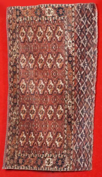 FIN TCHOUVAL-TEKKE (tapis de selle) fin XIXème...
