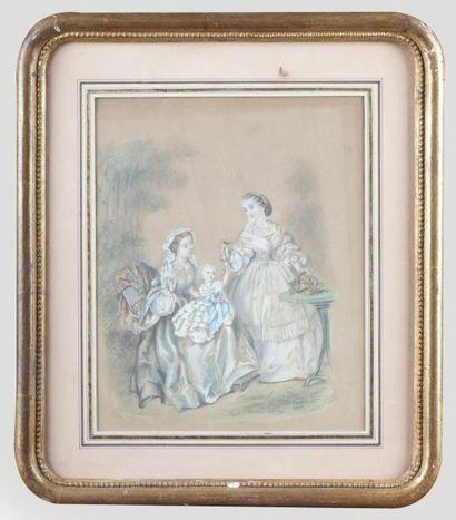 Pauline GAULET, école française du XIXe siècle
