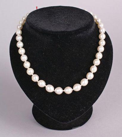 COLLIER en perles d'Australie en chute. L.:...
