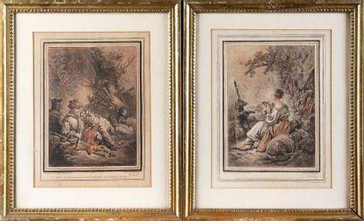 Gilles DEMARTEAU (1750-1802) d'après Jean-Baptiste HUET