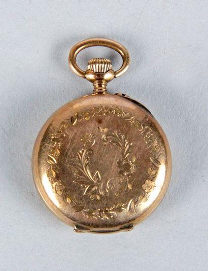 MONTRE DE COL en or jaune d'époque fin XIXe...