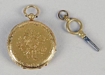 MONTRE DE DAME en or jaune d'époque Louis-Philippe...