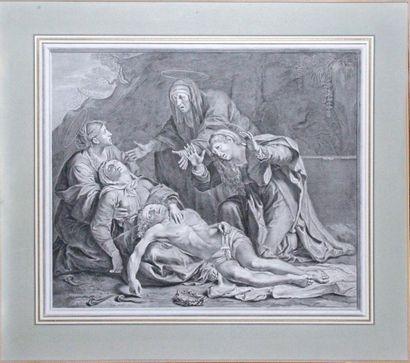Jean-Louis ROULLET (1643-1699) d'après Annibal CARRACHE