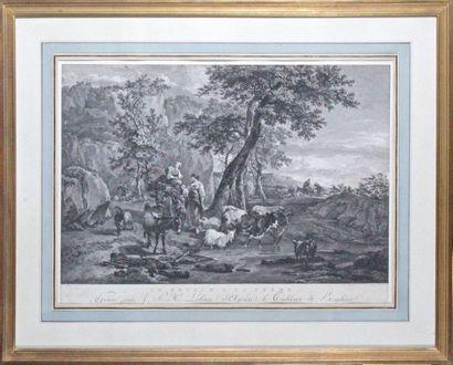 Carl Wilhem WEISBROD (1743-1806) et Jacques Philippe LE BAS (1707-1783) d'après Nicolaes BERCHEM