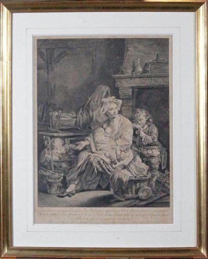 Laurent CARS (1699-1771) et Claude DONAT-JARDINIER (1726- ca 1770) d'après Jean-Baptiste GREUZE