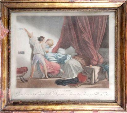 Maurice BLOT (1753-1818) d'après Honoré FRAGONARD LE VERROU, 1784