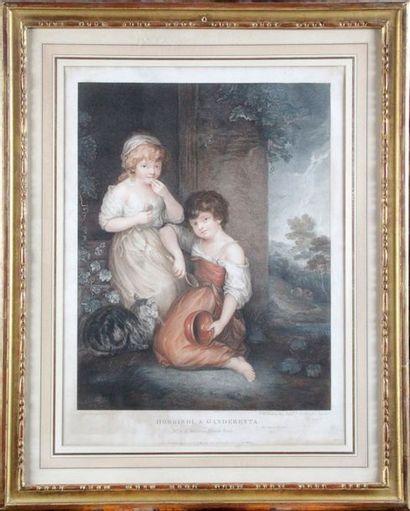 Peltro William TOMKINS (1760-1840) d'après Thomas GAINSBOROUG