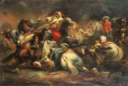 ÉCOLE ROMANTIQUE vers 1840, entourage de Auguste RAFFET