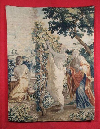 TAPISSERIE du XVIIe siècle «SCÈNE DE LA MYTHOLOGIE»...