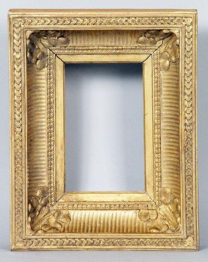CADRE d'époque Louis-Philippe en bois doré...