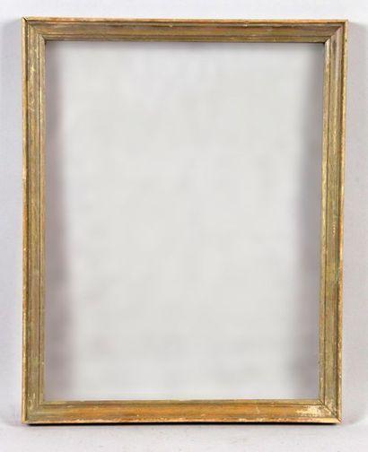 BAGUETTE en bois doré. 26 x 34 cm