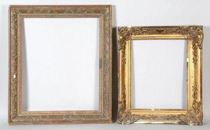1 - CADRE en bois doré de style Louis XIV....