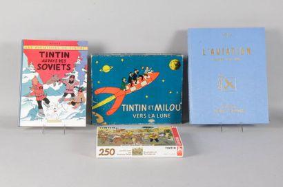 Jeu Tintin et Milou vers la lune - Puzzle...