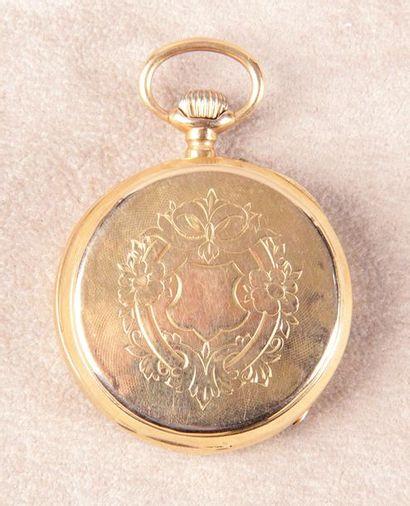 MONTRE DE GOUSSET en or jaune d'époque Napoléon...