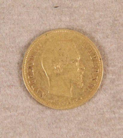 PIÈCE DE 10 F or (année 1857, Paris) à l'effigie...