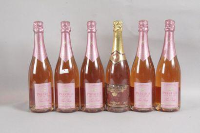6 Blle CHAMPAGNE PRESTIGE DES SACRES ROSE...
