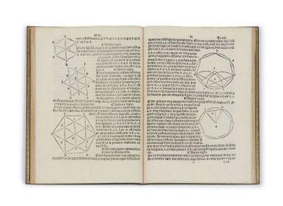 CHARLES DE BOVELLES (1478-1567) Geometrie en francoys Paris, H. Estienne, 1511 In-8...