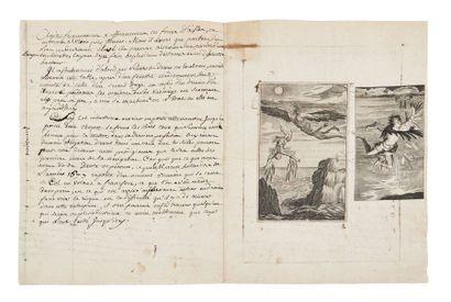 [MACHINE À VOLER] «Machine d'une nouvelle invention pour voler en l'air»: manuscrit...
