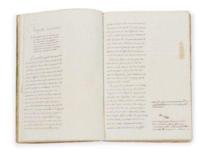 VOLTAIRE (1694-1778) De la nouvelle Philosophie de Newton [suivi de:] Essay sur la...