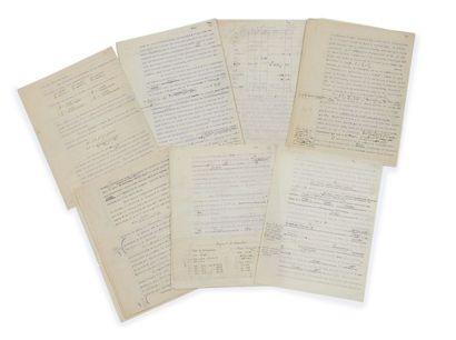 Marie CURIE (1867-1934) Radioactivité: dactylographie corrigée [S.l., avant 1934]...