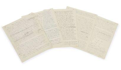 ALBERT EINSTEIN (1879-1955 «Altes und Neues zur Feld-Theorie»: manuscrit autographe...