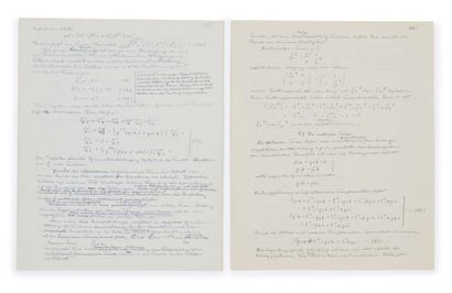 Albert einstein (1879-1955) Manuscrit autographe signé inédit, en allemand [S.l.,...