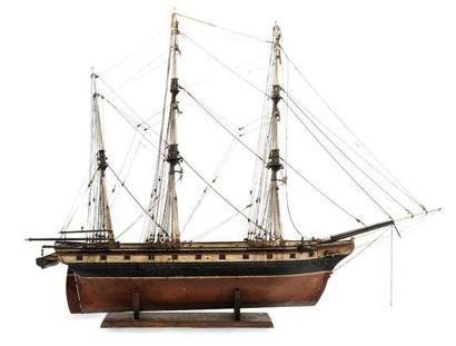 Maquette d'un trois mâts de commerce Epoque...