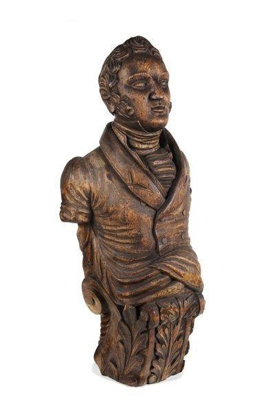 Figure de proue représentant le buste d'un...