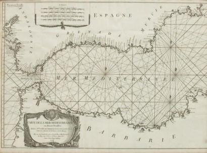 Carte marine du détroit de Gibraltar par...