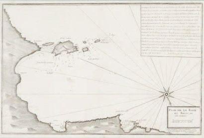 Carte marine Iles des Embiez. Epoque XVIIIème...