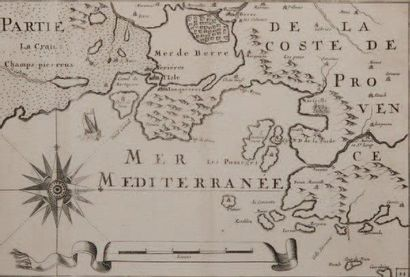 Carte marine Des côtes de l'étang de Berre...