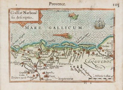 Carte marine Côte de Provence. Epoque XVIIème...