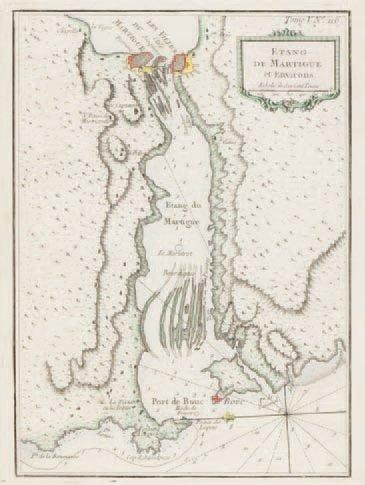 Carte marine Martigues. Epoque XVIIIème siècle....