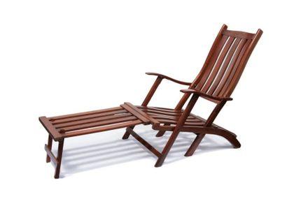 Deux chaises longues de paquebot 155 x 57...