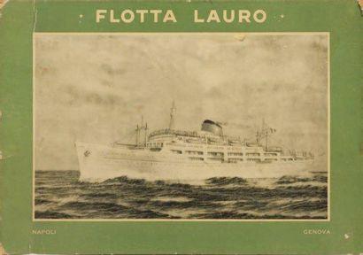 Deux planches publicitaires Flotta LAURO....