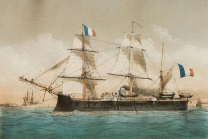 Cuirassé de Premier Rang Richelieu Gravure....