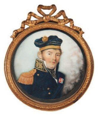 Miniature d'un officier de marine Epoque...